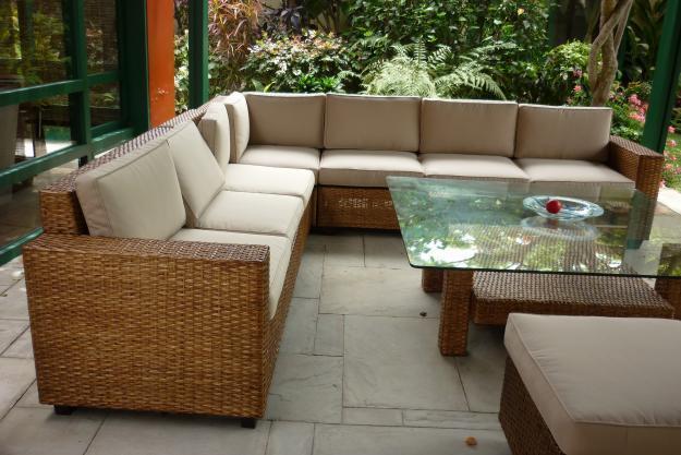 Muebles de mimbre y rattan for Muebles de jardin rattan