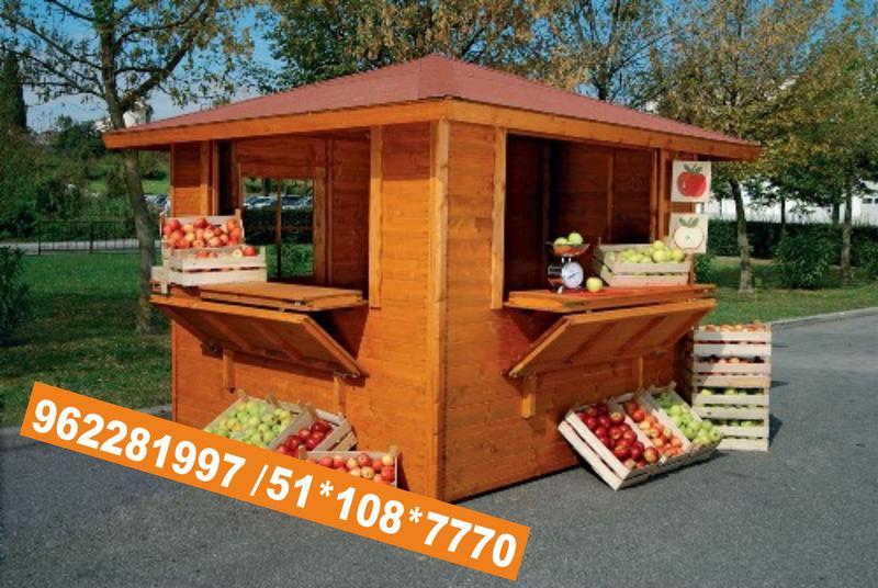 Kioscos casetas modulos para playa colegios peru for Kiosco bar madera