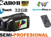 filmadora canon m31 full hd semi profesional con flash y 32gb int